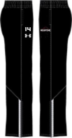 Mens UA Black Campus Pant  (HousBasket)