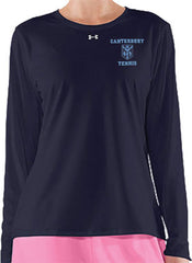 Ladies UA Long Sleeve <br /> Navy Locker Tee <br />  (CantG-Tennis)