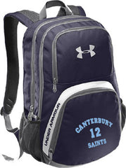 Navy Under Armour Hustle Backpack  (CLbk)