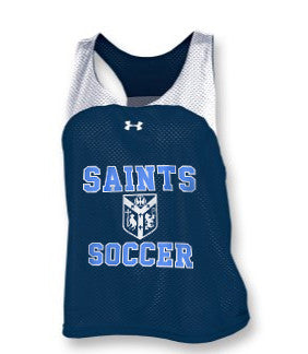 UA Girls' Ripshot Pinney <br /> Reversible Navy/White <br /> (CantGSoccer)
