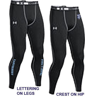 UA Mens Heat Gear Leggings <br /> (CantM-T&F)
