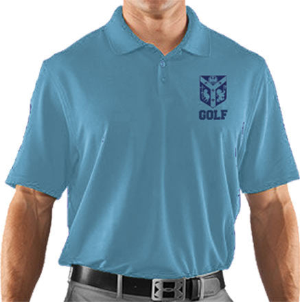 Girls Columbia Blue UA <br />Performance Team Polo <br />(CantL-Golf)