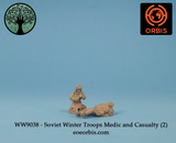WW9038 - Soviet Winter Troops Medic and Casualty (2)