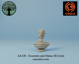 AA135 - Fountain and Statue III (1set)