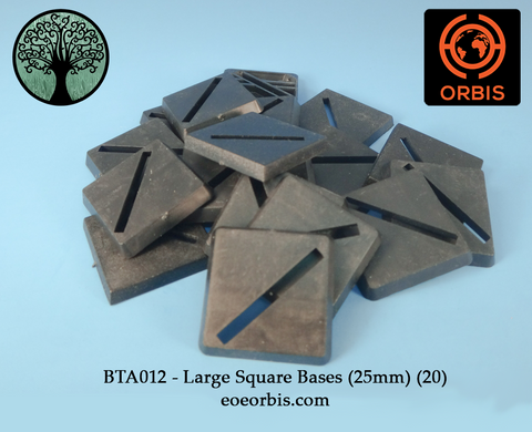BTA012 - Large Square Bases (25mm) (20)