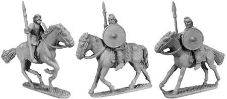 Saxon Cavalry Unarmoured Spearmen (3)