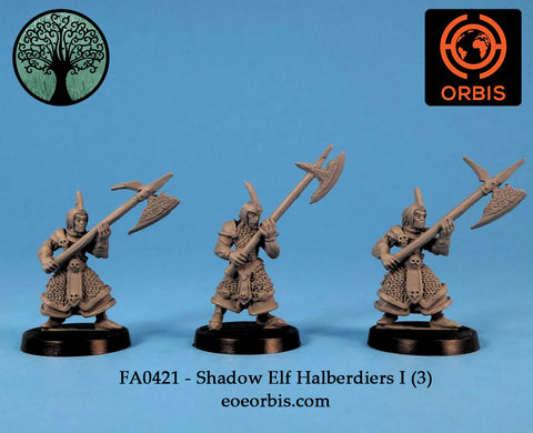 FA0421 - Shadow Elf Halberdiers I (3)