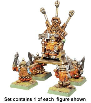 King of the Dwarves (King on throne with retainers)
