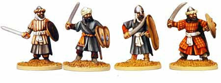 Warriors of Islam Infantry with Swords I (4)