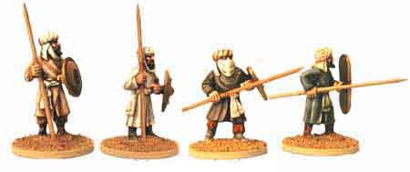 Warriors of Islam Infantry with Spears I (4)