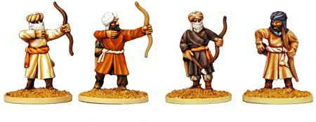 Warriors of Islam Infantry with Bows (4)