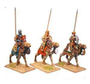 Warriors of Islam Camel Cavalry Light Armoured Spearmen (3)