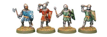 Foot Knights with 1-Handed Weapons (4)