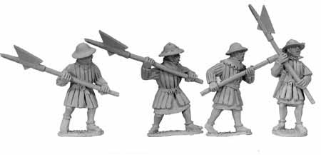 Early Infantry with Halberds (4)