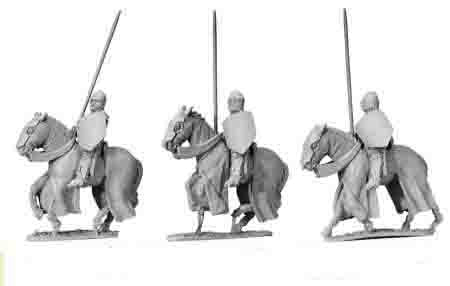 Cavalry Knights with Lances Raised (3)