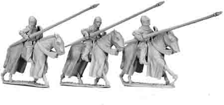 Cavalry Knights with Lances Lowered (3)