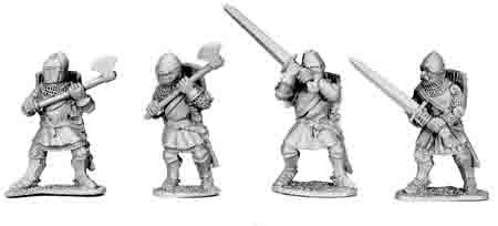 Foot Knights with 2-Handed Weapons (4)