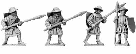Early Infantry Spearmen (4)