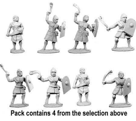 Egyptian Marine Skirmisher Slingers (4)