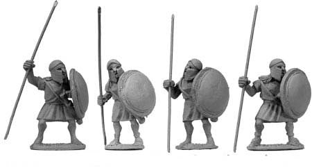 Greek Unarmoured Spearmen (4)