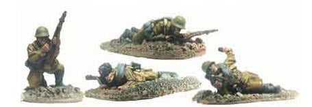Soviet Riflemen Prone and Kneeling I (4)