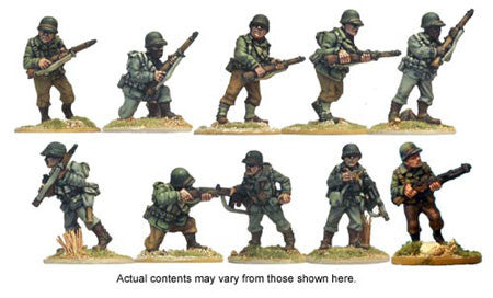 U.S. Squad (10)<br> <EOL>Squad contains 7 different Riflemen, 1 SMG and 2 Bargunners<br> <EOL>