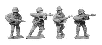 Waffen SS in Uniform with SMGs (4)