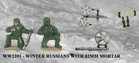 WW2391 - Winter Russians with 82mm Mortar
