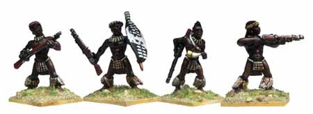 Unmarried Zulus with Muskets I (4)
