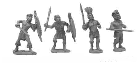Zulus with Stabbing Spears (4)