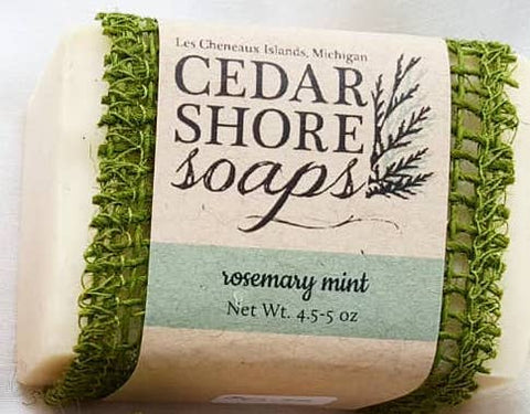 Rosemary Mint Soap Bar by Cedar Shore Soaps