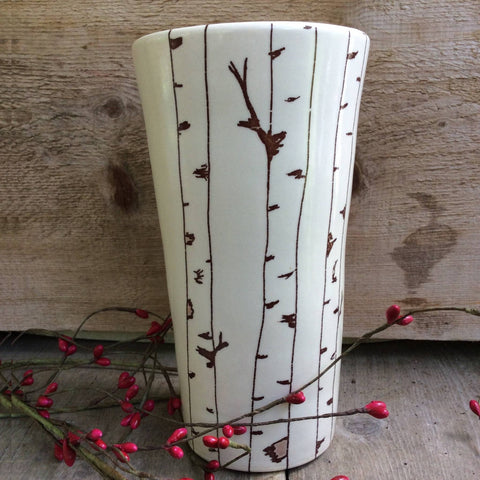 Birch Tree Pint Glasses by Bella Joy Pottery