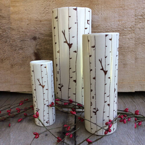 Birch Tree Vase by Bella Joy Pottery