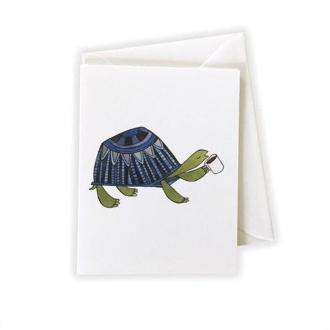Coffee Snob Turtle Card by Katie Eberts Illustration