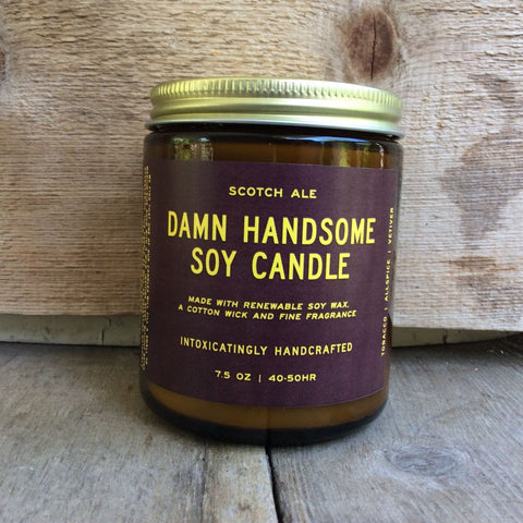 Damn Handsome Soy Candle- Scotch Ale