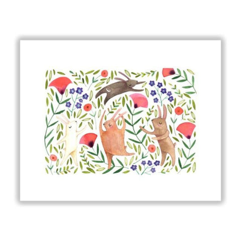 Dancing Bunny 8x10 Print by Katie Eberts Illustration