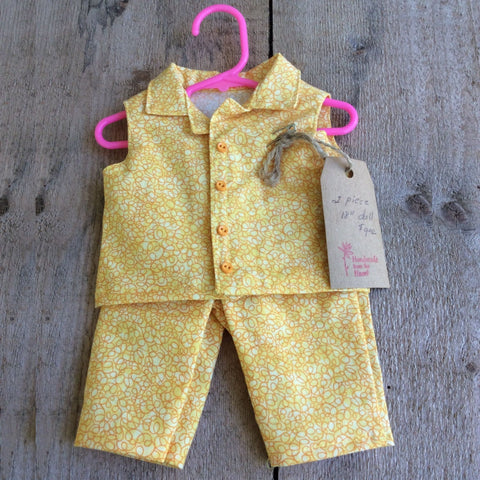 Doll Outfit: Two-Piece Yellow Set by Jeanne Cooper