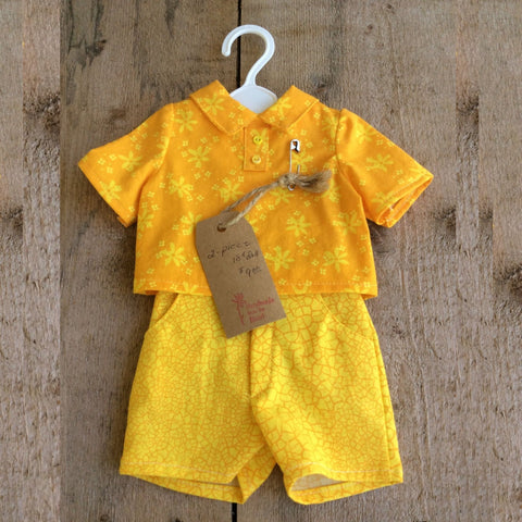 Doll Outfit: Yellow Shorts and Polo Shirt by Jeanne Cooper