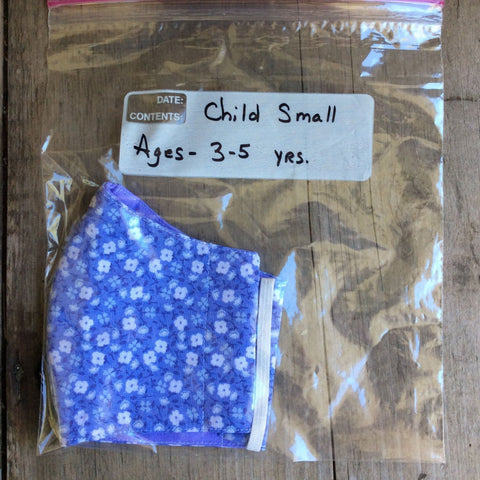 Face Mask Child Small by Kaydee's Keepers-BlueFloral