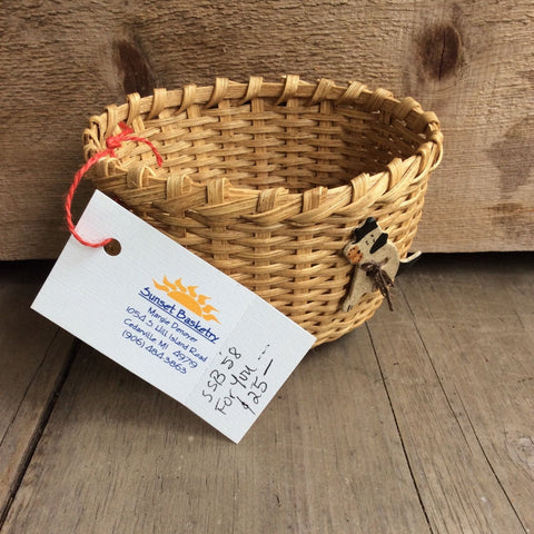 For You Basket with Dog by Sunset Basketry