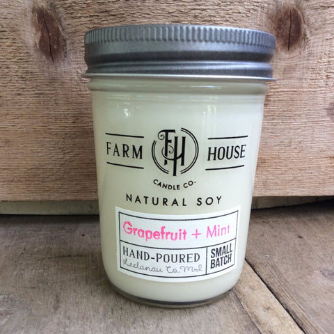 Grapefruit + Mint - Farm House Candle Co.