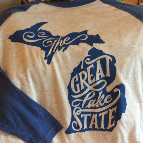 Great Lake State 3/4 Sleeve Shirt by Ardent Ink