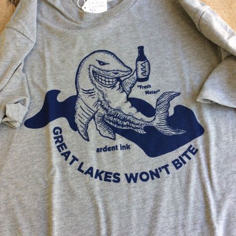 Great Lakes Won't Bite T-Shirt by Ardent Ink