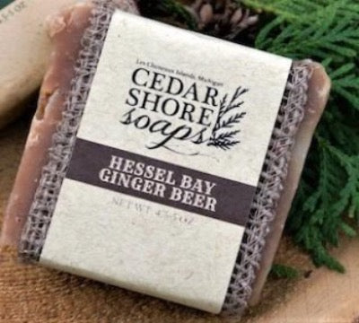 Hessel Bay Ginger Beer Soap Bar by Cedar Shore Soaps