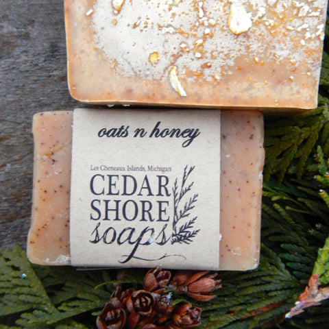 Honey & Oats Soap Bar by Cedar Shore Soaps