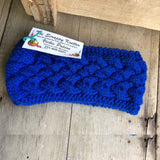 Irish Twist Headband by The Scrappy Knitter-Blue