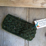 Irish Twist Headband by The Scrappy Knitter-ForestGreen