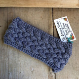 Irish Twist Headband by The Scrappy Knitter-Grey