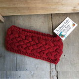Irish Twist Headband by The Scrappy Knitter-Red