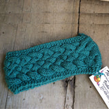 Irish Twist Headband by The Scrappy Knitter-Turquoise